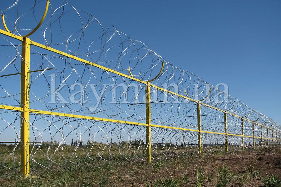 Забор из спирального барьера безопасности Кайман
