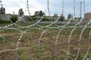 Kayman security flat barrier fence close-up