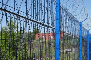 Welded grid fence, Kayman barbed mesh and Kayman concertina barrier