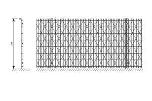 Креслення паркану зі зварної сітки та колючої сітки Кайман