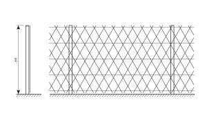 Piranha barbed mesh fence drawing