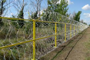 Concertina obstacle fence