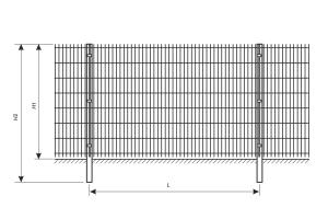 Welded grid fence drawing