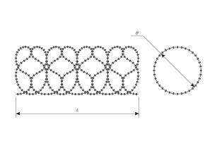 Чертеж спирального барьера Кайман