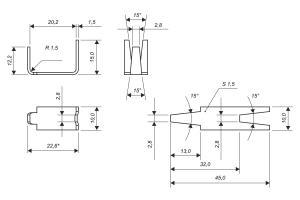 Креслення стрічкової скоби Супер для колючого дроту Кайман