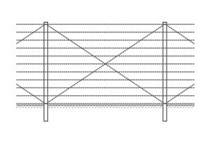 Kayman barbed wire mounting drawing